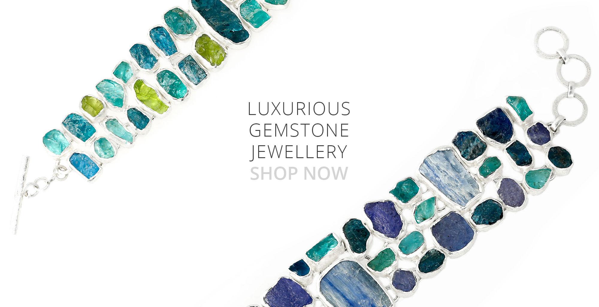 luxury designer handmade gemstone silver bracelets