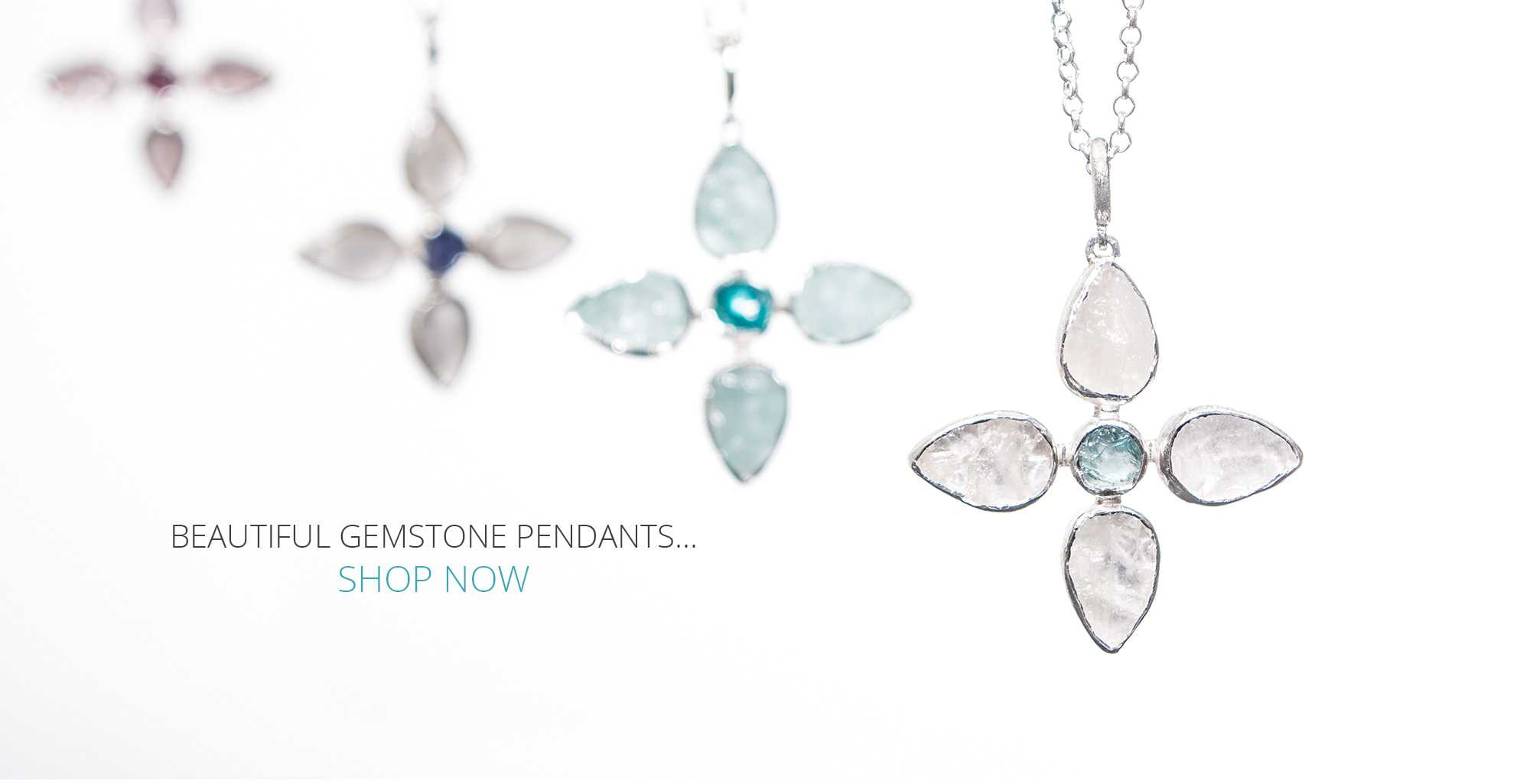 flower gemstone pendants