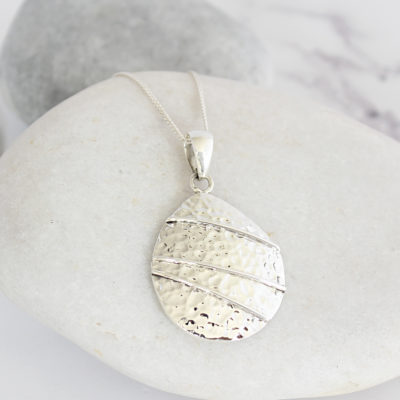 Coastal Sterling Silver Pebble Pendant