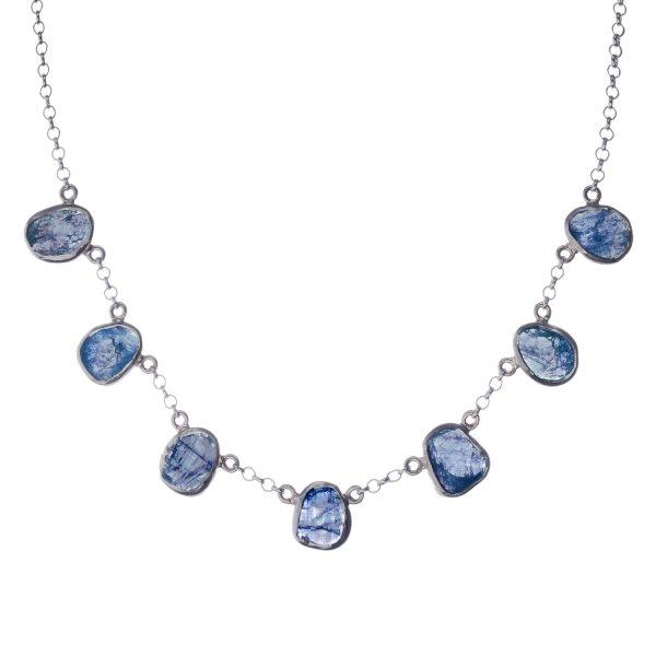 Tanzanite Gemstone Sterling Silver Ladies Necklace