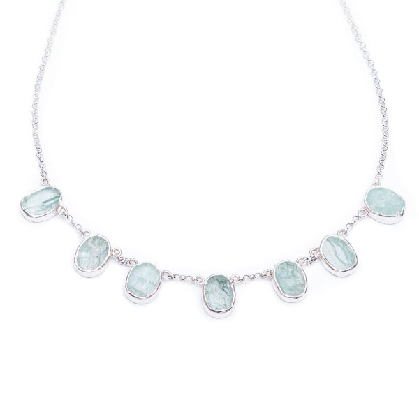 Aquamarine Handmade Sterling Silver Ladies Necklace