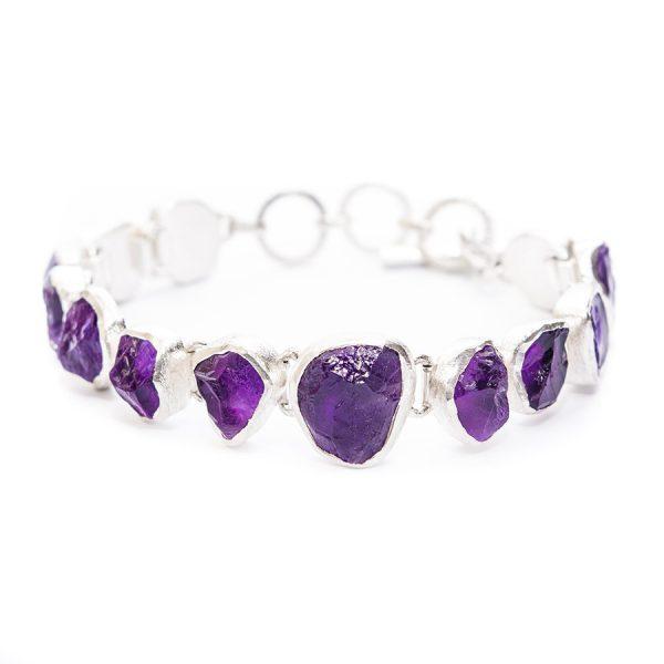 Amethyst Gemstone Handmade Designer Bracelet