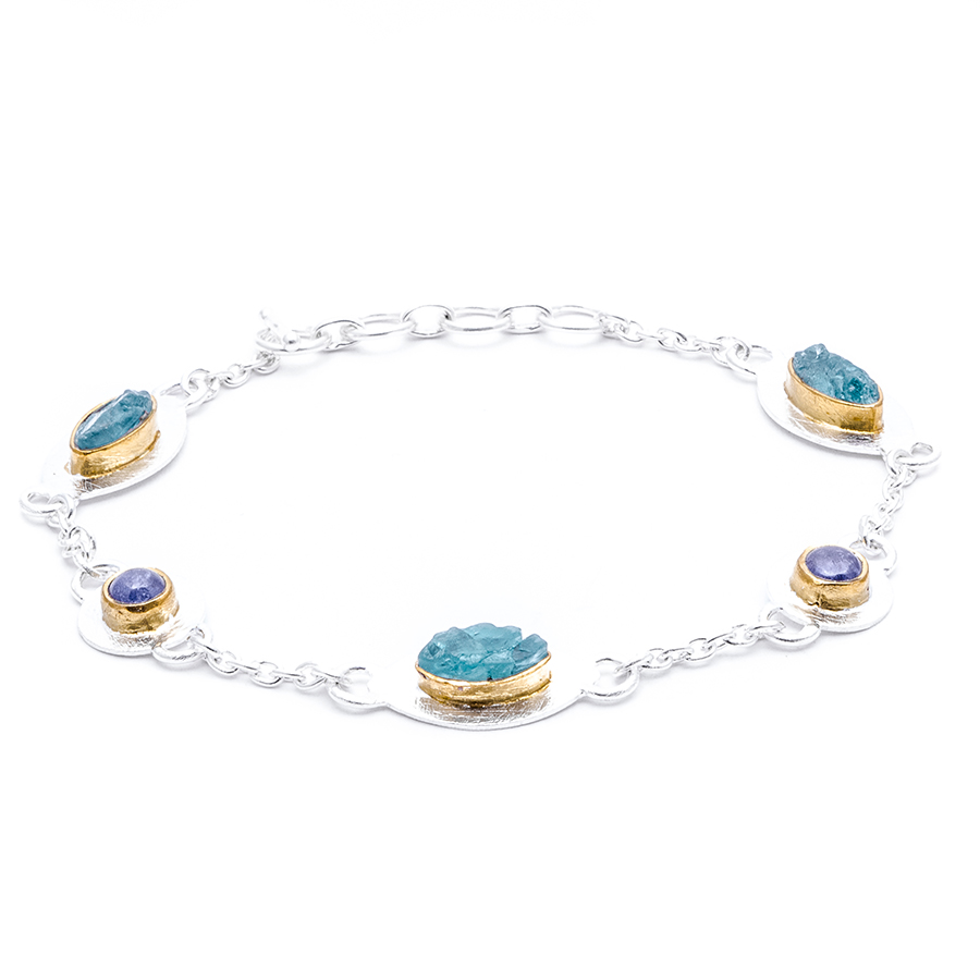 Baby Boy Charm Bracelet Multicolor in addition Rhea Silver Gar  Goddess Bangle furthermore New From Cartier Lodyssee De Cartier Parcours Dun Style likewise Black White Diamond Solitaire Pendant Necklace 14k White Gold 0 43 Carat Heart Love Designs Handmade together with Mystical Rainbow Bracelet. on aquamarine bracelet