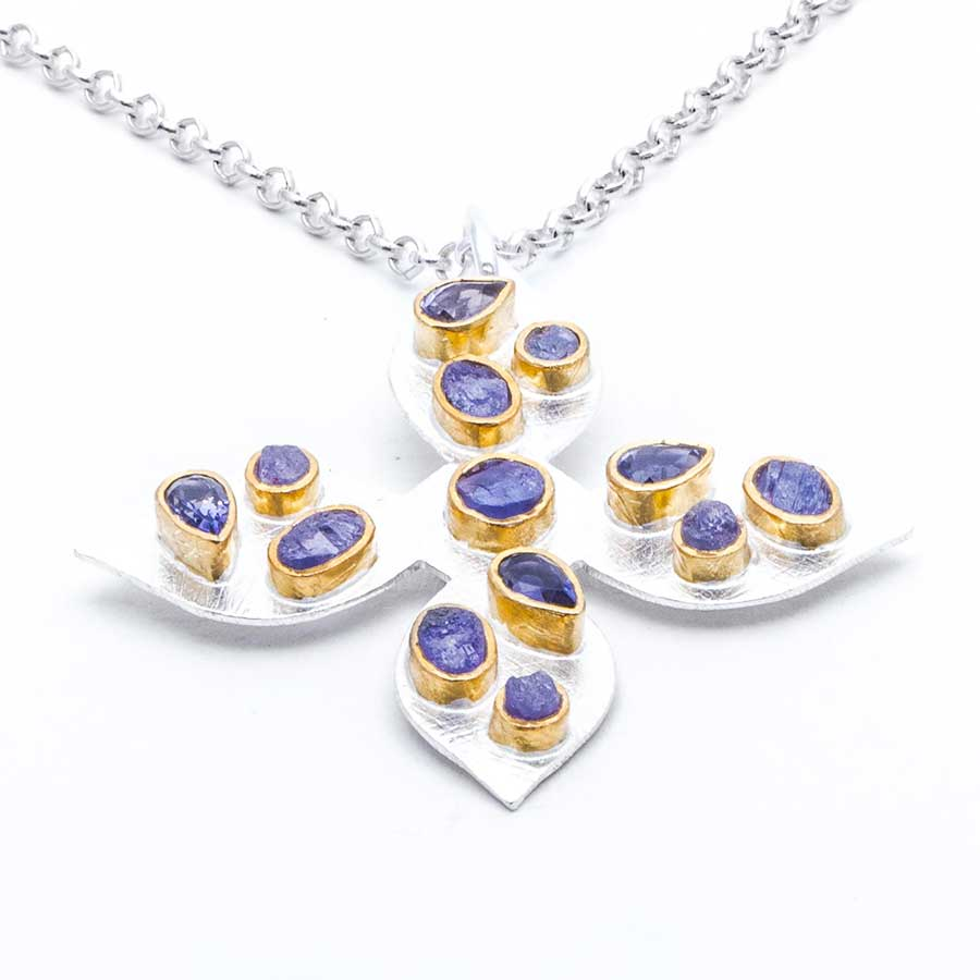 img necklaces by jewelry and necklace iolite sterling cornflower custom silver