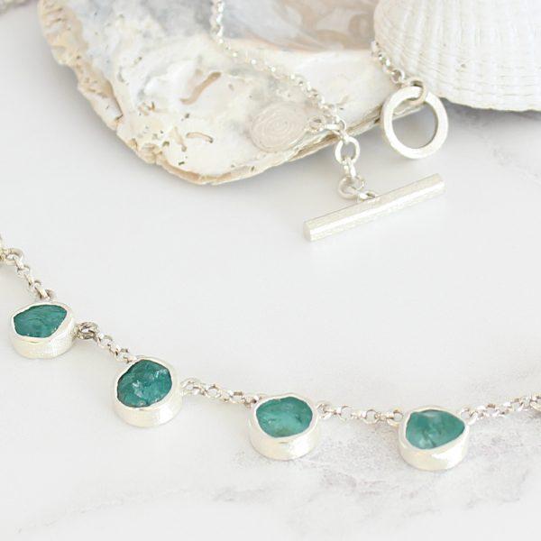 Apatite Gemstone Handmade Sterling Silver Ladies Necklace