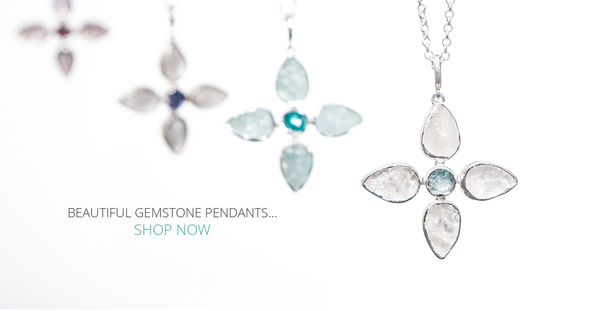 flower gemstone pendants