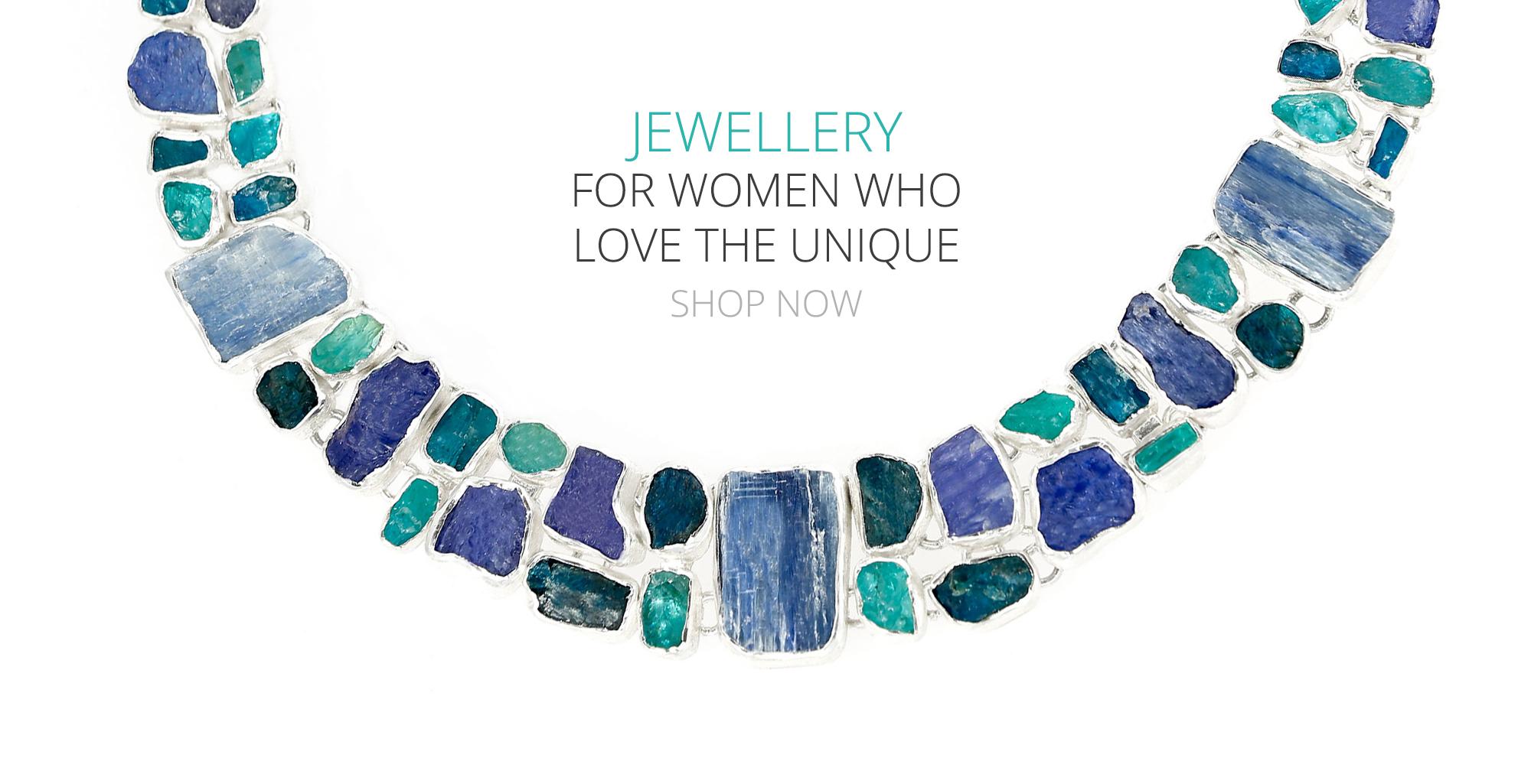 unique designer gemstone silver jewellery