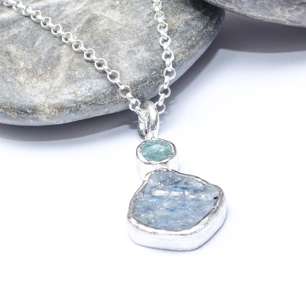 aquamarine lilia nash original necklace aqua marine jewellery pendant product by march birthstone liliandesigns