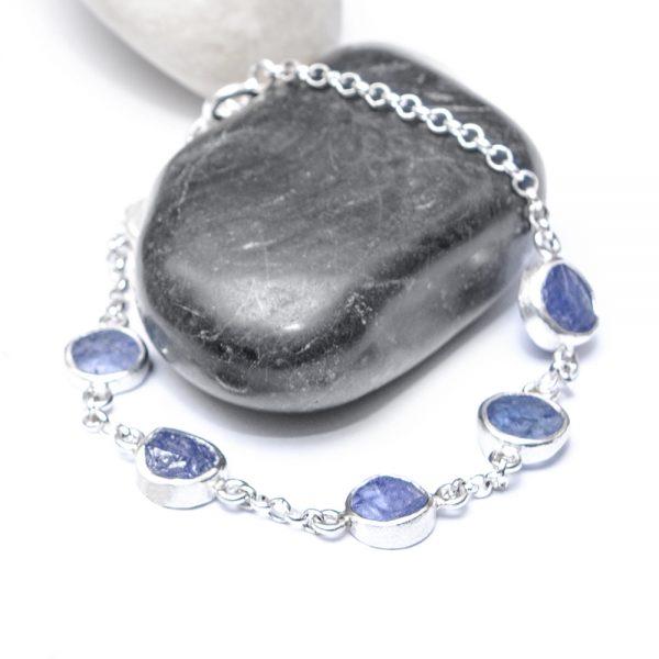 Tanzanite Gemstone Handmade Sterling Silver Ladies Bracelet