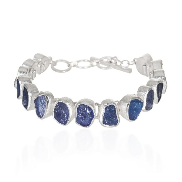 Tanzanite Gemstone Designer Handmade Sterling Silver Ladies Bracelet