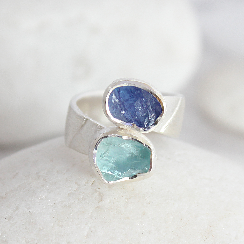Aquamarine Silver Ring Uk