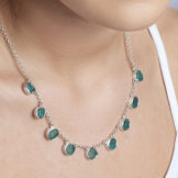Apatite Gemstone Handmade Sterling Silver Ladies Necklace