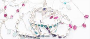 designer gemstone silver jewellery