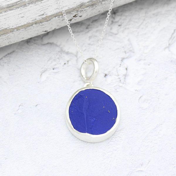 Lapis Lazuli Gemstone Handmade Ladies Silver Pendant