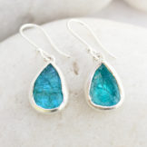 Apatite Gemstone Handmade Sterling Silver Ladies Earrings