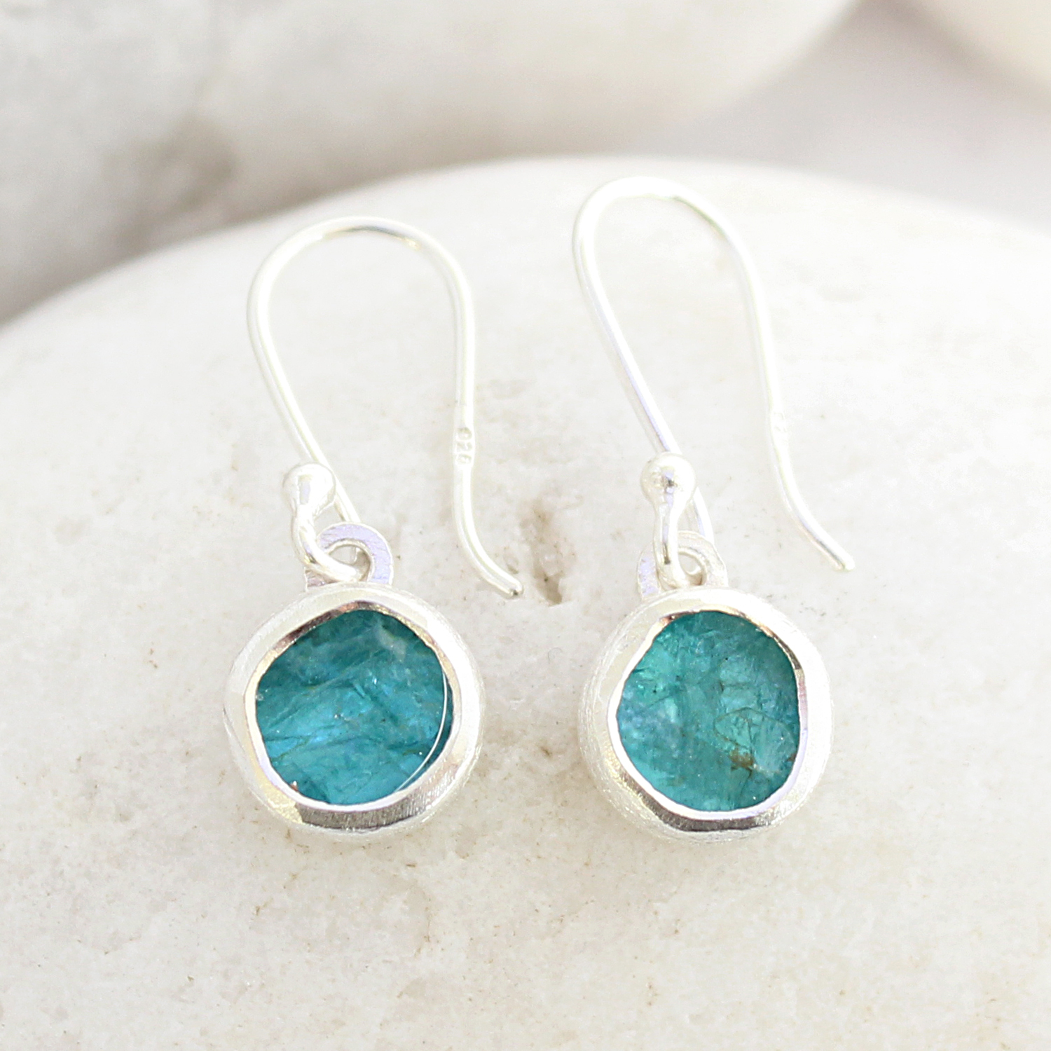 pin wrap jewelry handmade earrings sterling wire dangle green apatite