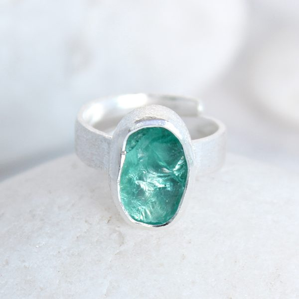 Apatite Natural Gemstone Handmade Ladies Sterling Silver Ring