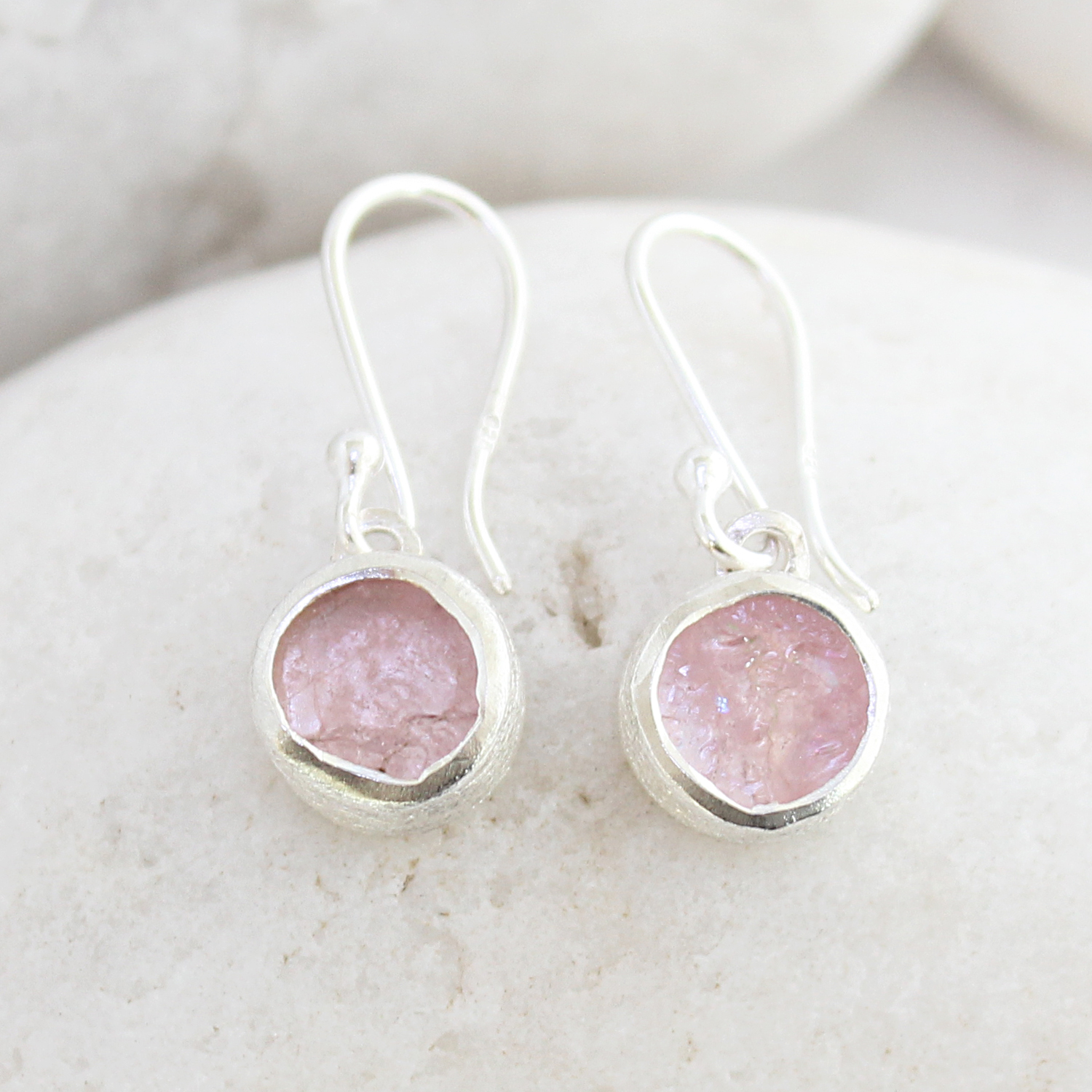 Morganite Gemstone Handmade Sterling Silver Ladies Earrings