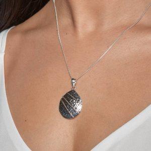 Coastal Sterling Silver Pebble Pendant