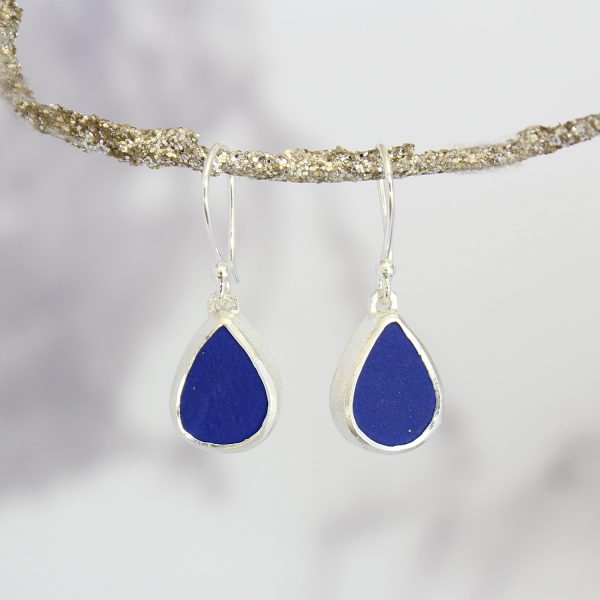 Lapis Lazuli Handmade Ladies Sterling Silver Earrings