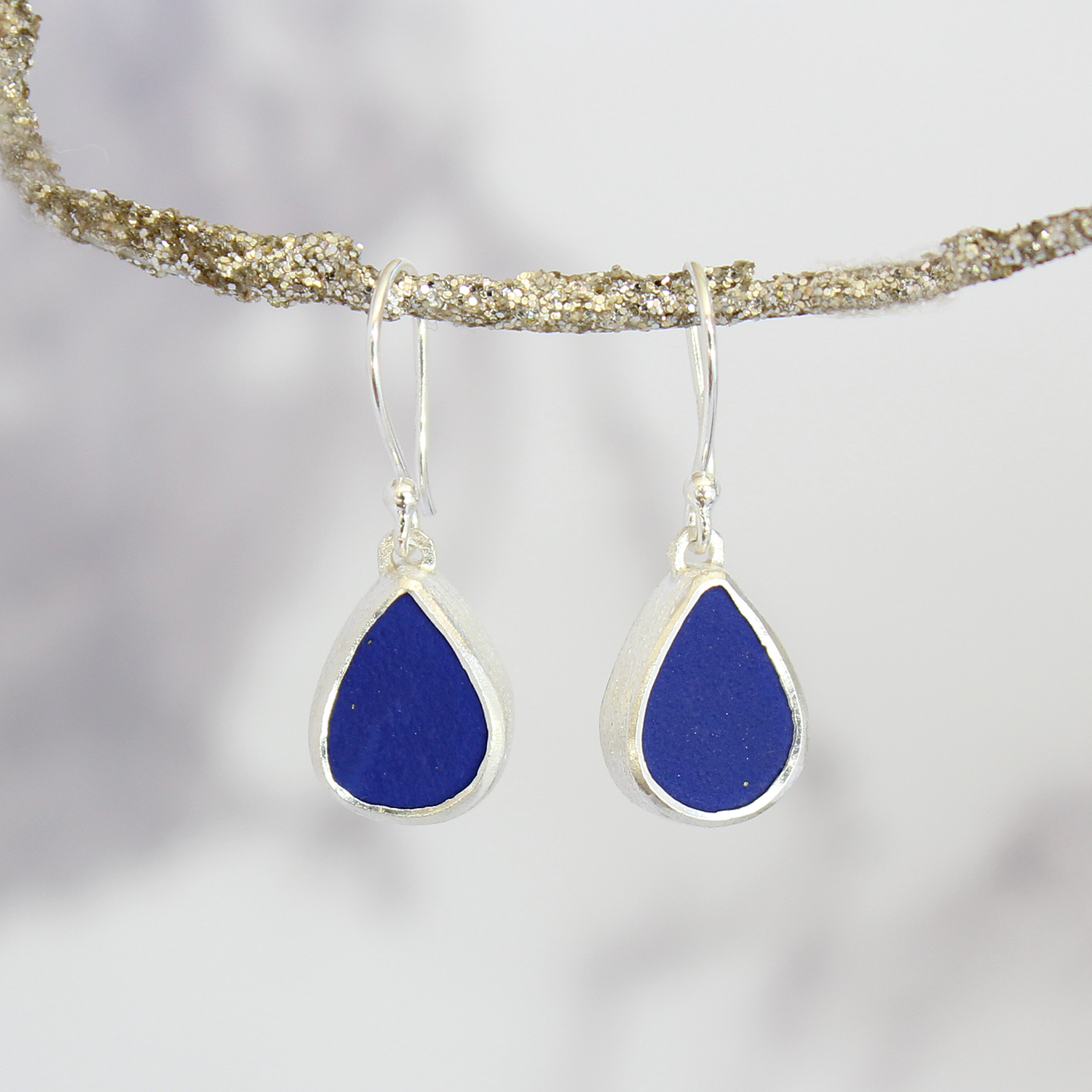 product pearls and lazuli coin lapis earrings