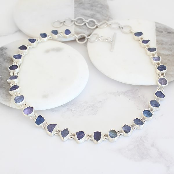 Tanzanite Gemstone Handmade Sterling Silver Ladies Necklace Made to Order