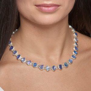 Tanzanite Gemstone Handmade Sterling Silver Ladies Necklace Made to Order