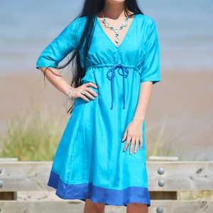 ladies ethical silk dress