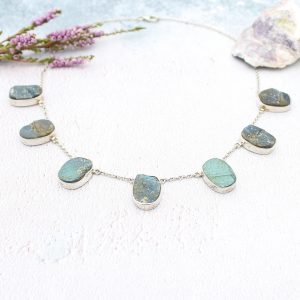 Labradorite Gemstone Handmade Ladies Sterling Silver Necklace