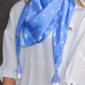 Lavender Luxury Silk Hand Tie Dyed Scarf