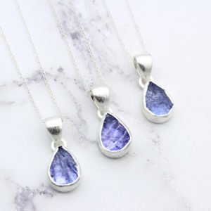 Tanzanite Gemstone Handmade Ladies Silver Pendant