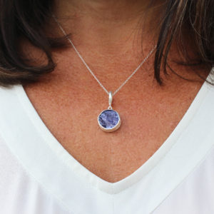 Tanzanite Gemstone Handmade Ladies Silver Pendant